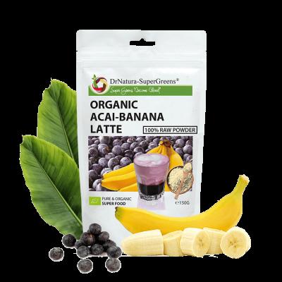 Organic Acai-Banana Latte