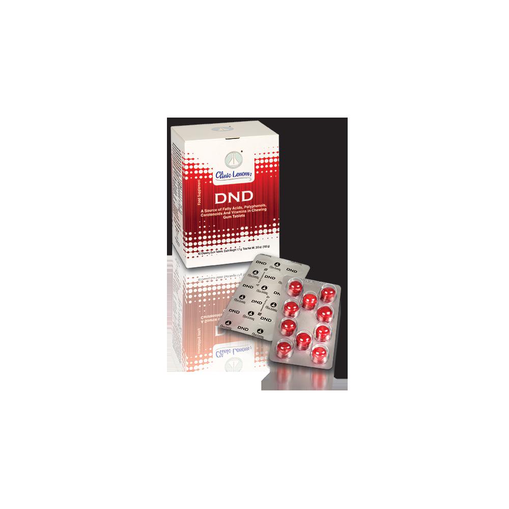 DND žuvacie tablety