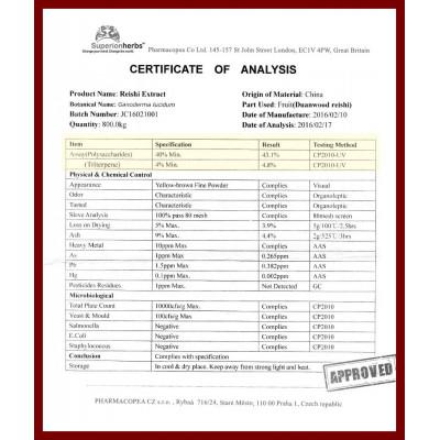 Ganoderma Duanwood Red Reishi - Spore - 100% spore powder