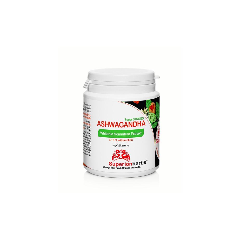 Ashwagandha – extrakt z koreňa Ašvaganda s 5 % withanolidov